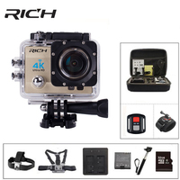 RICH Action Camera 4K Ultra HD 1080p WIFI Sports cameras Q5 14MP 30fps/60fps underwater waterproof cameras Helmet extreme cam