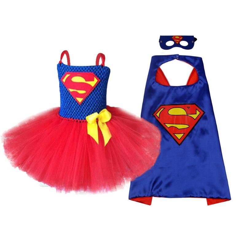 2020 New Handmade Girls Tulle Tutu Dress Halloween Cosplay Girl Dress Costume Festival Birthday Party Teenager Dresses2-10Y 1
