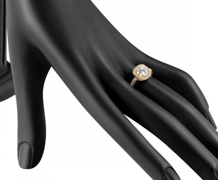 Luxury 1Ct Cubic Zirconia Mosaic Rhinestone Crystal Rings