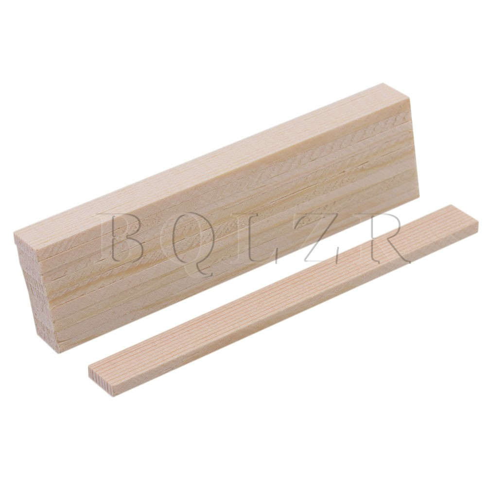 10 x Smooth Square Balsa Bamboo Wood Sticks 50mm Length for Crafts Makin