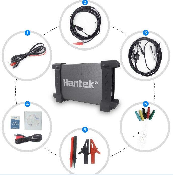 Hantek 6074BE 4 Canais 70 mhz Largura de Banda Portrail Osiclloscope Digital USB Osciloscopio Automotivo Diagnóstico-ferramenta