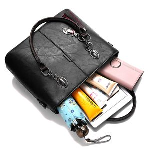 Image 5 - Luxury Handbags Women Bags Designer Big Crossbody bags For Women 2021 Solid Shoulder Bag Leather Handbag sac bolsa feminina