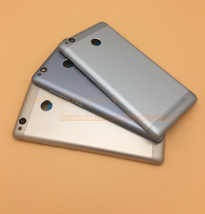 for Xiaomi <font><b>Redmi</b></font> <font><b>3s</b></font> Back <font><b>Battery</b></font> <font><b>Cover</b></font> Door Housing + Side Buttons + Camera Flash Lens <font><b>redmi</b></font> 3 Pro back <font><b>cover</b></font> image