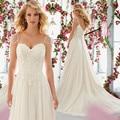 9041 2016 белый кот кружева свадебные платья Большой размер макси официально милая одеяние де свадебная свадебное платье Casamento