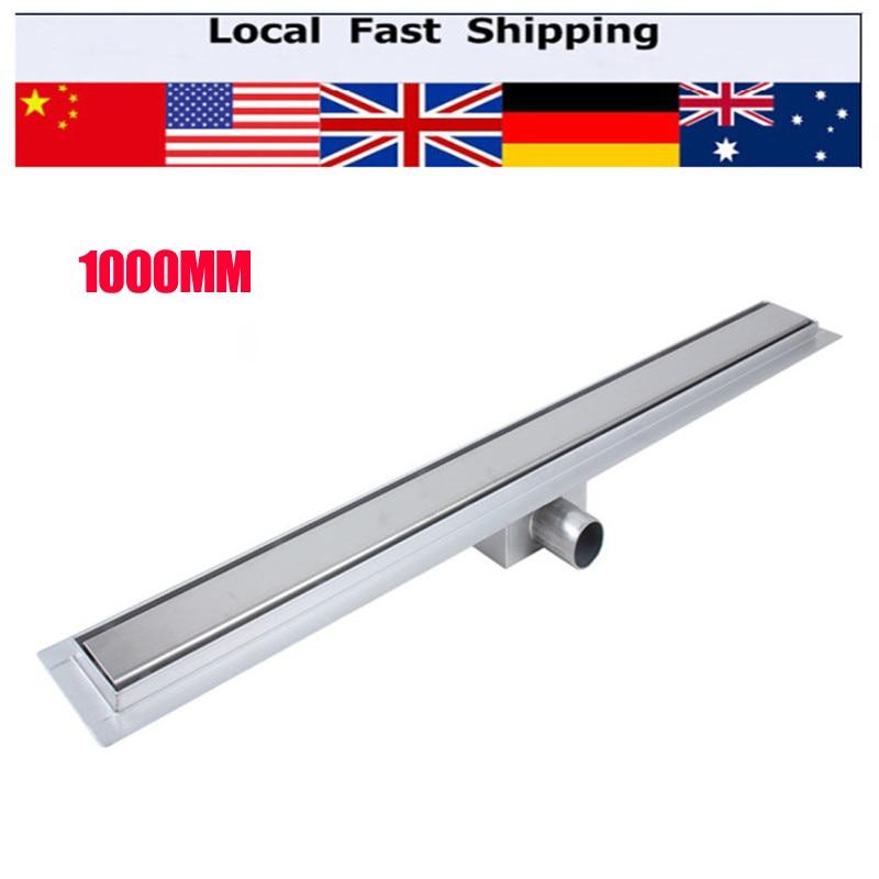 Bathroom Floor Drain 1000mm Stainless Steel Linear Long