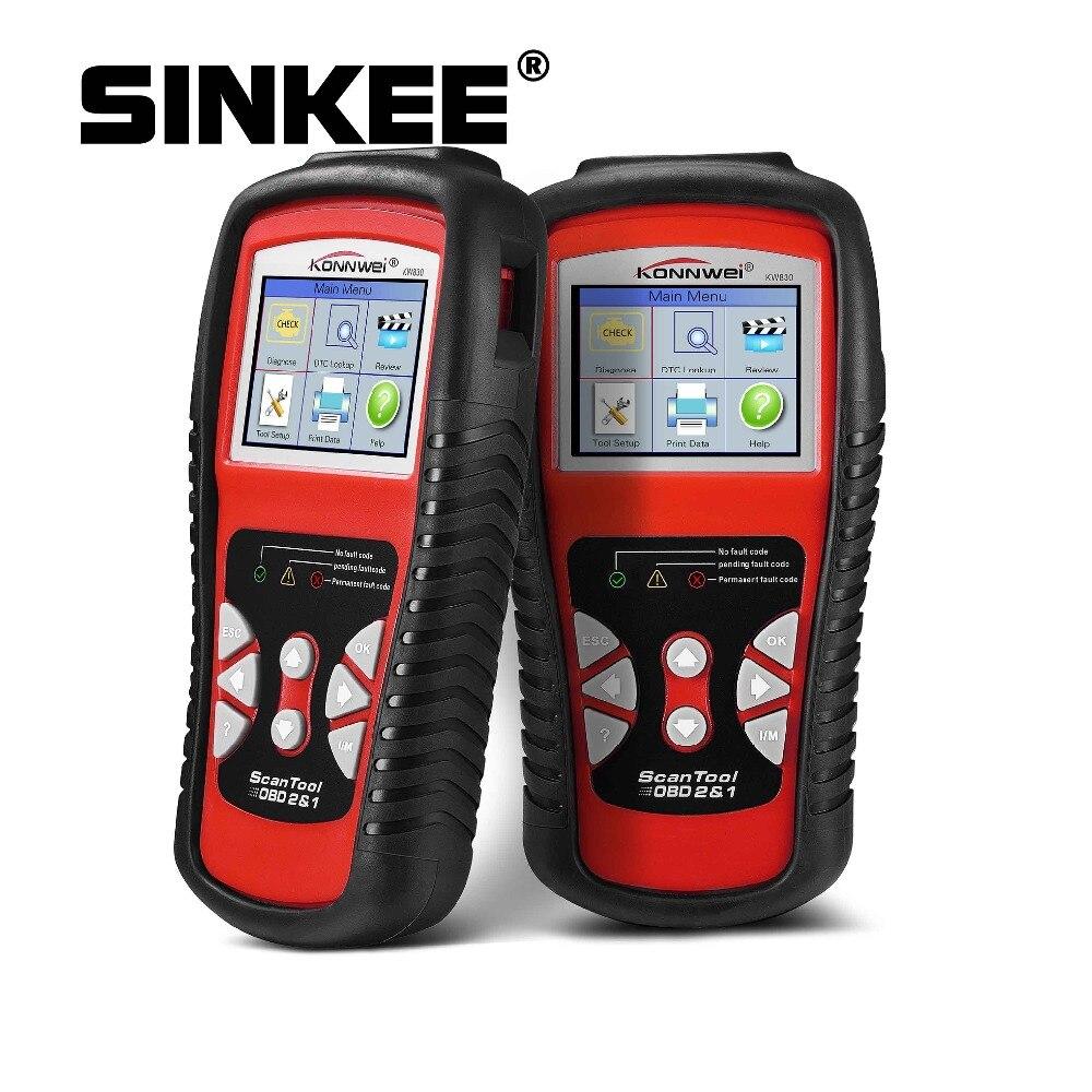 Scanner automobile KW830 OBD2 pour outil de Diagnostic de voiture lecteur de Code d'erreur automatique universel Scanner de Diagnostic de voiture SK1804