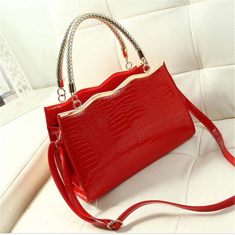 ФОТО 2017 for Crocodile women's handbag red bridal bag marry bridesmaids package handbag messenger bag