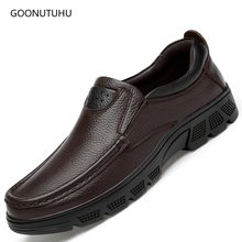цены 2019 spring autumn fashion men's shoes genuine leather cow slip-on loafers big size shoe man classic brown & black shoes for men