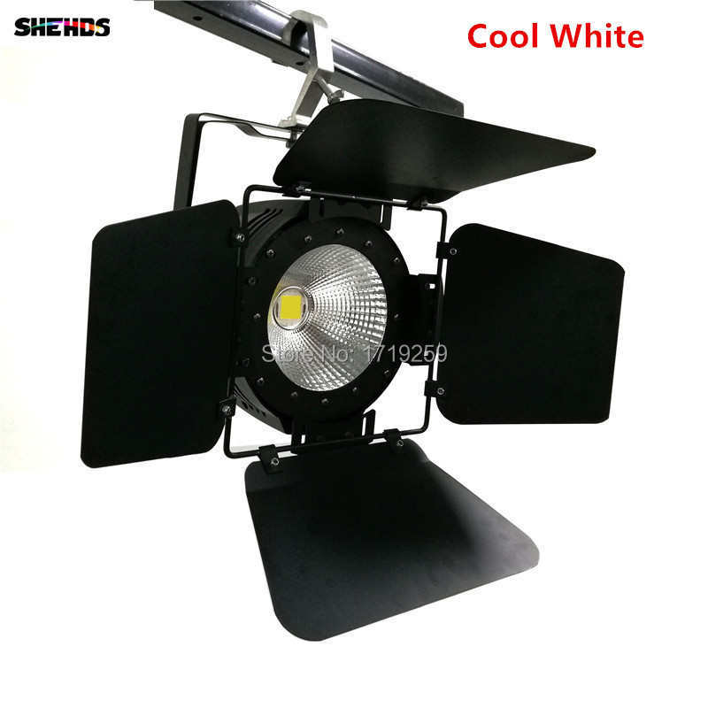 Image 2 - LED Par Light COB 100W with Barn Doors High Power Aluminium cool white and warm white Wash Strobe Effect Stage Lighting-in Stage Lighting Effect from Lights & Lighting
