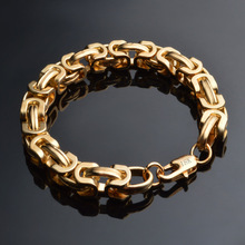 TJP 20CM Shiny Women Bracelet Charm 9MM Men Gold Armband  Brackelets Party Jewelry Wholesale Freeshipping
