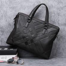 купить BAQI Brand Men Briefcase Bag Genuine Cow Leather Men HandBags 2019 Fashion Man Shoulder bags Messenger Bag Computer Business Bag по цене 3326.2 рублей
