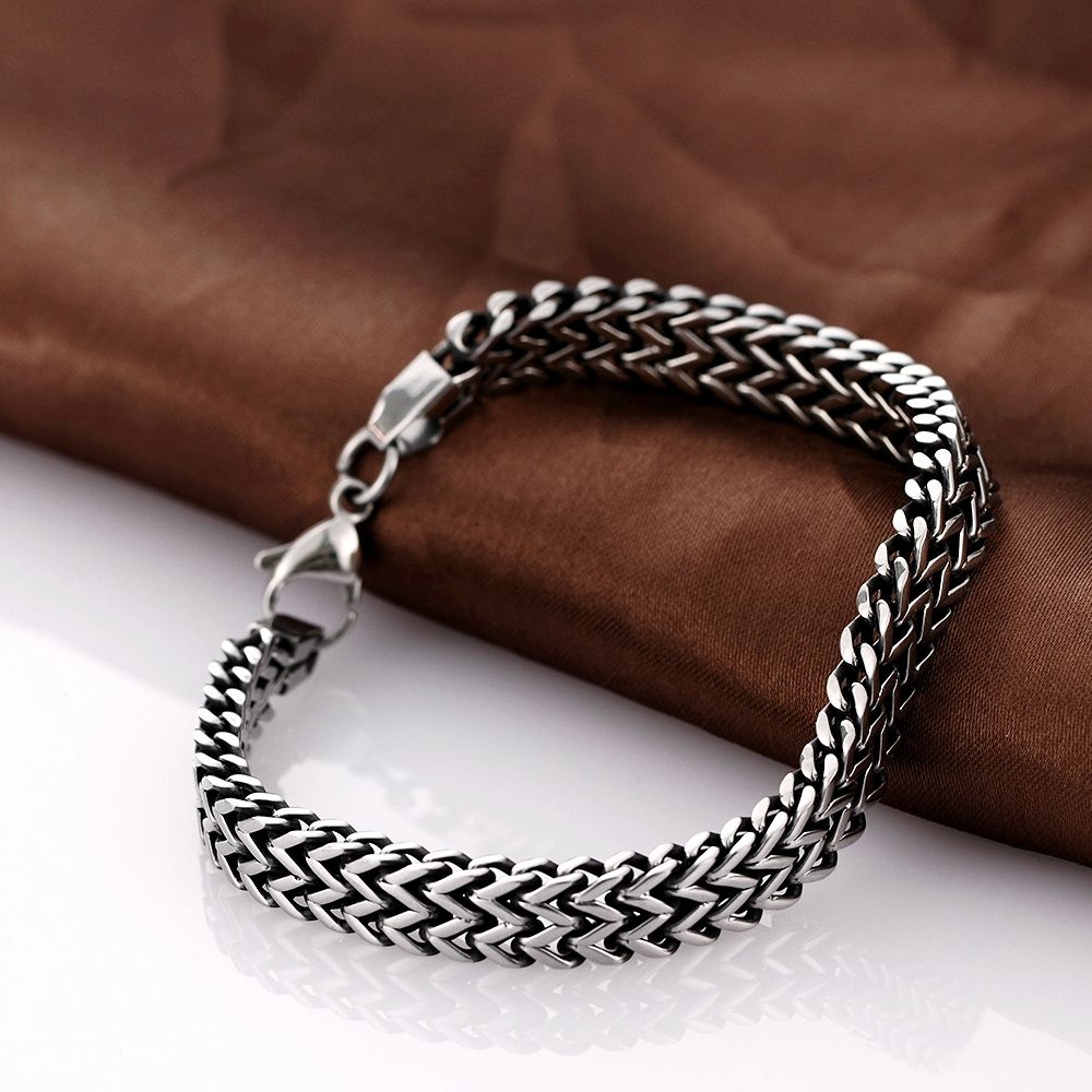 high quality men bangles snake chains H024 Fashion 316L stainless steel bracelet for man
