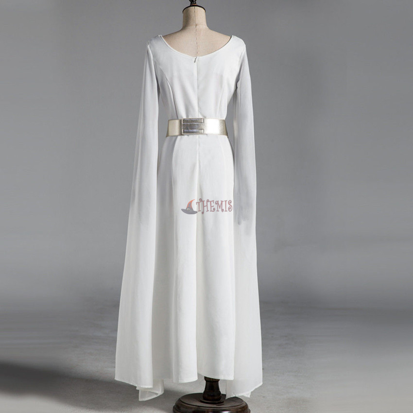 Athemis Movie Star Wars Leia Organa Cosplay Costume Custom White Dress Made Set High Quality In Tv Costumes From Novelty Special Use On