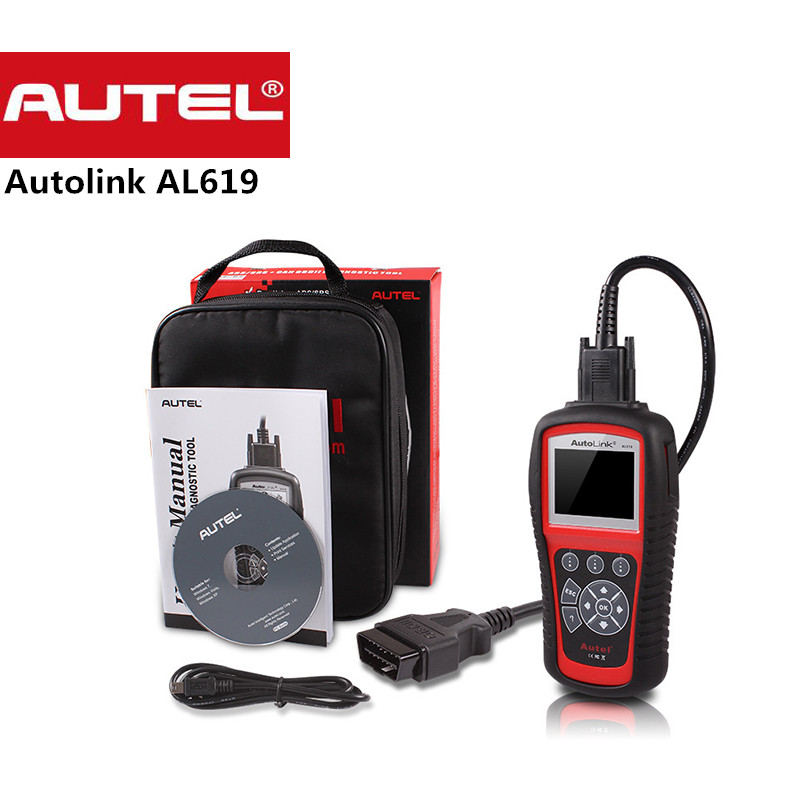 Original Autel Autolink AL619 ABS SRS reset CAN OBDII Diagnostic Scan Tool AL 619 Turn off Check Engine Light clears codes