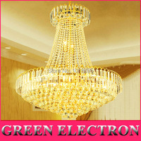 D800 X H900mm Modern Royal Empire Golden Crystal Chandeliers Duplex Stairs Light LED K9 Crystal Ceiling
