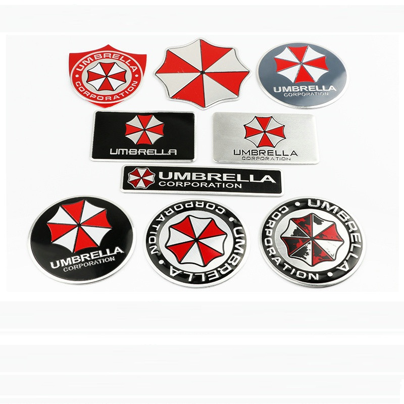 Car Styling Umbrella Corporation  3D Metal Chrome Aluminium Alloy 3D Emblem Badge Sticker Decal Auto Accessory