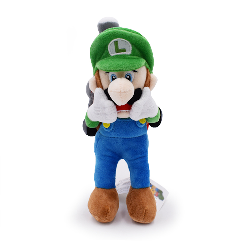 2017 Free Shipping 1 PCS Super Mario Series Luigi Mansion 2 Soft Sanei Plush Toy Scared Doll For Boy Birthday Gift Approx 18cm7""