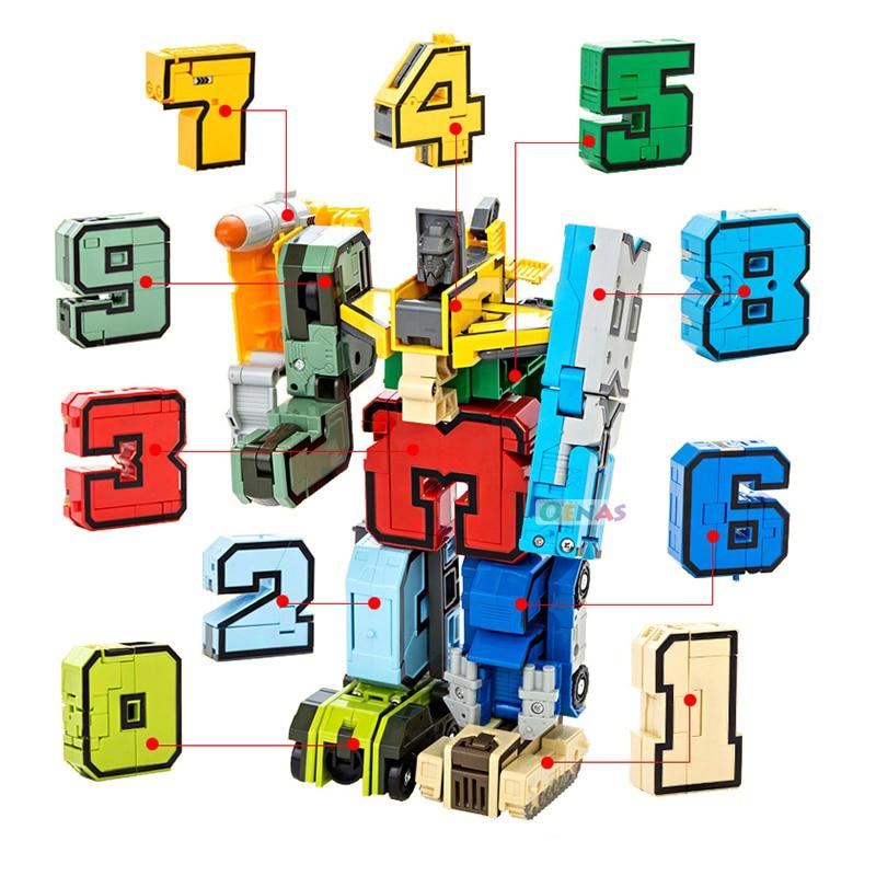 Transformation Tank Aircraft Boat Digital Robot Digit Number Fighter Robot DIY Educational Children font b Toy