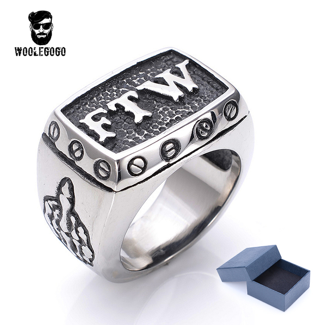 Gorgeous Engraved Ftw Rings Mens Biker Exquisite Wedding Bands