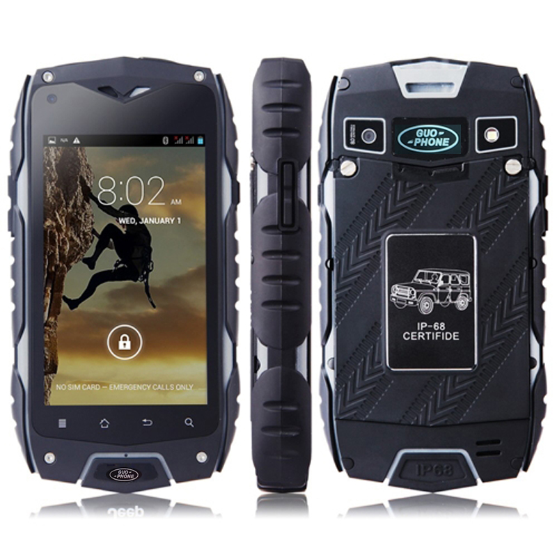 Original GuoPhone Z6 waterproof phone 4 0 ip68 3G GPS mtk6572 Dual Core 1 2GHZ 512MB