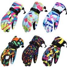 Лыжные перчатки женские зимние спортивные перчатки водонепроницаемые ветрозащитные теплые зимние перчатки женские лыжные перчатки