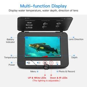 Image 3 - Cámara de vídeo de pesca submarina Eyoyo EF15R 1000tvl 15M 4 Uds infrarrojos + 2 uds cámara de vídeo submarino LED blanco para pesca en hielo