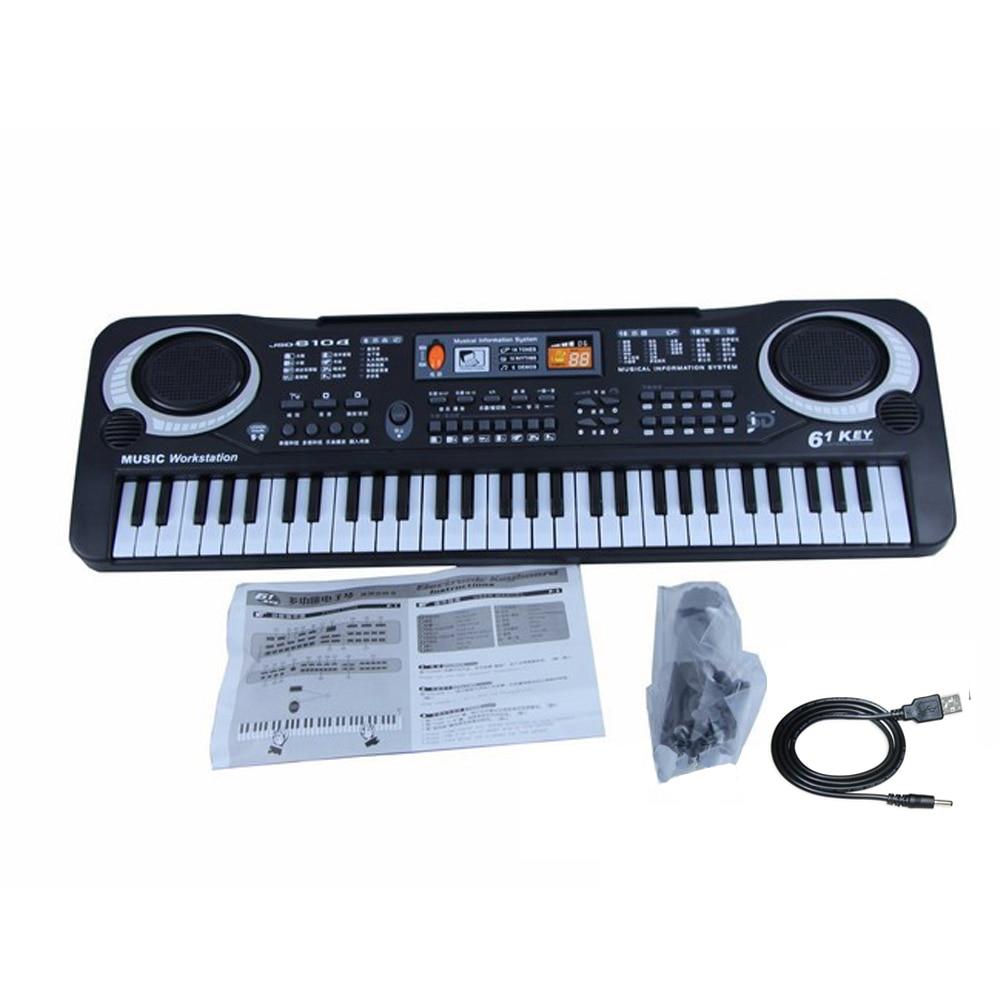 Instrument de musique jouet clavier électronique Portable orgue électrique Piano cadeau pour bébés enfants avec Microphone et câble USB