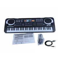 Musical Instrument Toy Electronic Keyboard Portable Electric Organ Piano Gift For babies Kids with Microphone and USB cable