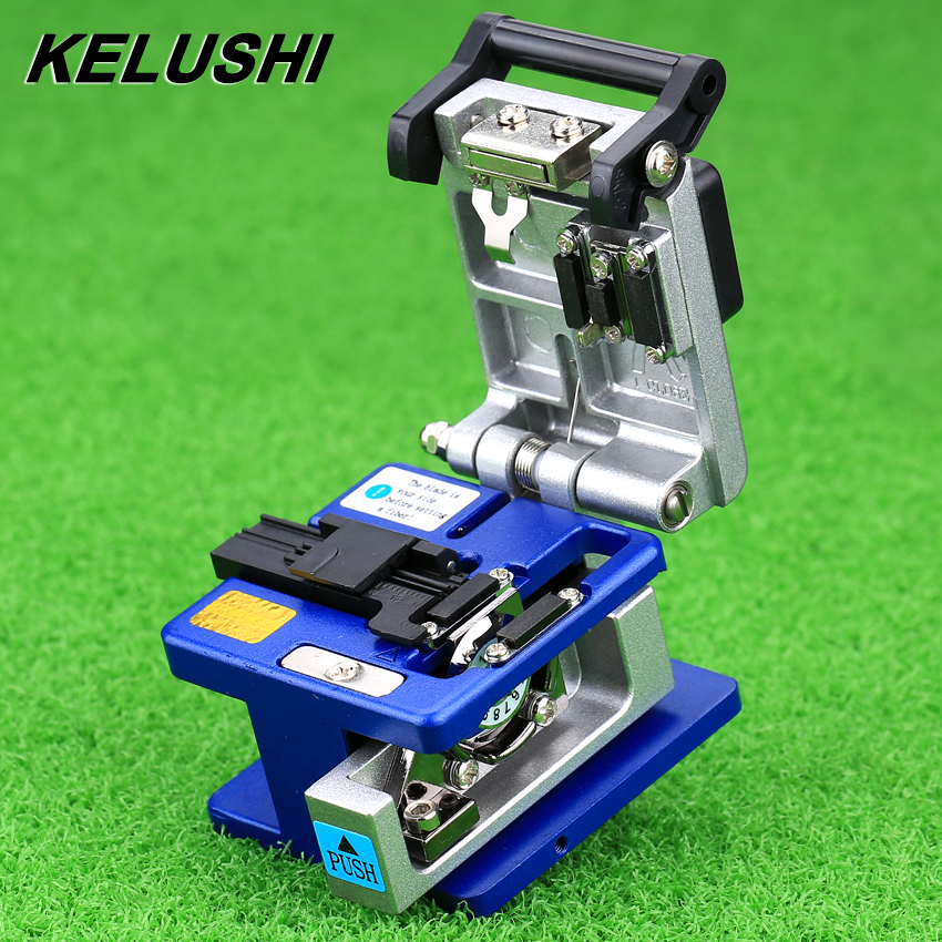 KELUSHI Hohe Präzision Aluminium Faser Cleaver Optic Connector FC-6S Optical Fiber Cleaver Kostenloser Versand