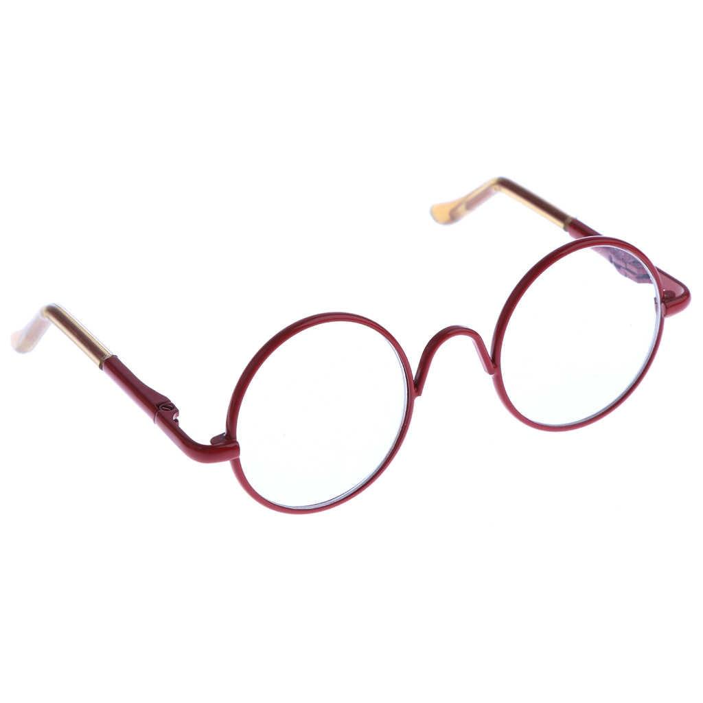 Hippy Stijl Ronde Frame Clear Lens Eyewear Voor 1/6 Blythe Pulip Poppen Aankleden