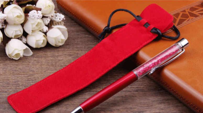 1 piezas lindo de doble cara gruesa de franela bolsa de lápiz manga titular único bolsa de lápiz