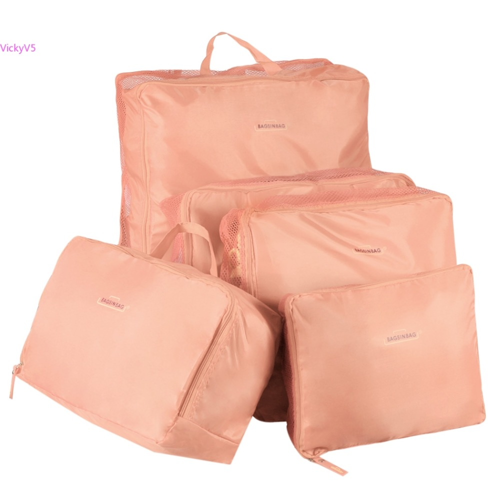 Charming 5 Sizes/set Home Travel Clothes Underwear Socks Storage Bags Packing Cube  Luggage Bag Organizer