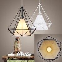 birdcage chandelier Scandinavian modern minimalist art pyramid iron chandelier creative restaurant lights with LED