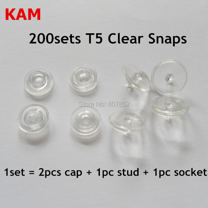 US $12 14 15% OFF|200 sets Glossy Transparent Clear T5 size 20 Kam Snaps  Buttons Plastic Resin Fasteners for Baby Diaper-in Beads from Jewelry &