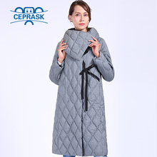 CEPRASK 2019 New High Quality Thick Parkas Plus Size Long Winter Jacket Women Bio fluff Hooded Warm Winter Coats Outerwear цены онлайн