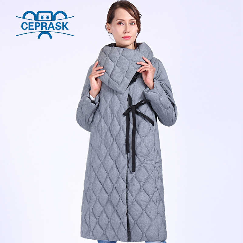 CEPRASK 2019 Nieuwe Hoge Kwaliteit Dikke Parka Plus Size Lange Winterjas Vrouwen Bio pluis Hooded Warm Winter Jassen Bovenkleding