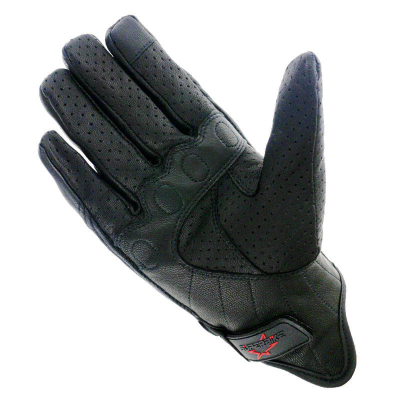 Image 4 - Motorcycle Gloves Leather Touch Screen Men Genuine Goatskin 