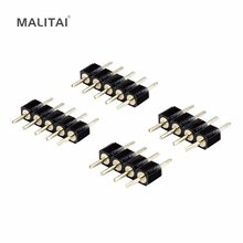 10 Pcs/lots 4 broches RGB/5 broches RGBW RGBWW connecteur d'aiguille pour 3528 2835 5050 LED bande(China)