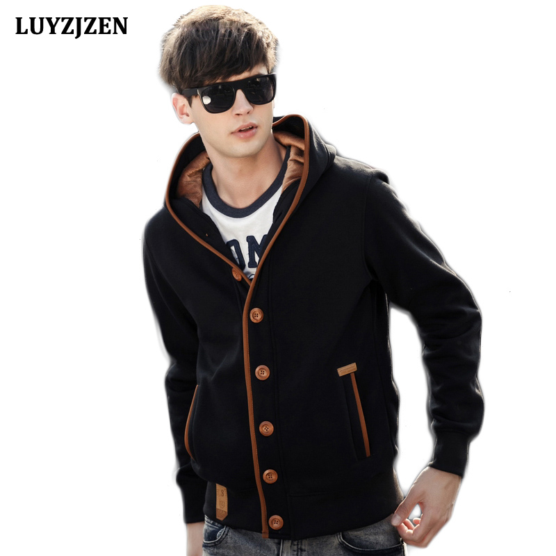 Hoodies Men 2017 New Brand Mens Casual Sweatshirt Jacket Cardigan Fashion Capucha Cloak Hooded Male Hip