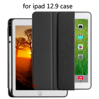 High quality TPU silicone soft shell case Case for iPad Pro 12.9 2017 Pouch Bag Cover with Pencil Slot for iPad Pro 12.9