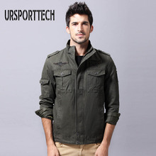 Cotton Jacket Mens Autumn Thin Section Large Size Military Uniform Air Force Leisure Wild 6XL