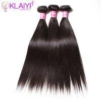 Malaysian Glattes Haar Bundles Menschenhaar-webart 8-30 Zoll Natürliche farbe 3 Stücke Pro Los Remy Klaiyi Haar Produkte Freies verschiffen