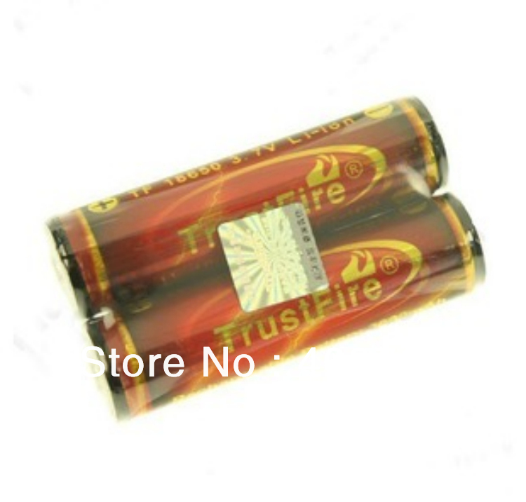 2pcs/lot Trustfire 18650 Golden Protected Battery 3.7V 3000mAh Flashlight Torch Lithium Rechargeable Battery Free Shipping 2pcs trustfire 18650 rechargeable battery 3 7v 2400mah li ion lithium battery with protected pcb portable battery storage box