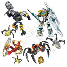 BionicleMask of Light Childrens Kopaka Master Of ICE Bionicle Building Block Compatible with Legoings 70788 Toys