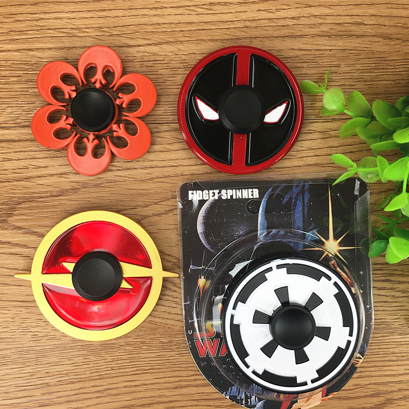 Deadpool Star Wars Flash Shields Alloy Finger Gyro Toys For ADHD Decompression Cartoon Metal Hand Fidget
