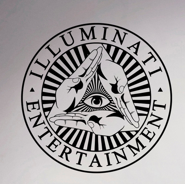 Illuminati Symbol Wall Sticker All Seeing Eye Vinyl Decal Decor