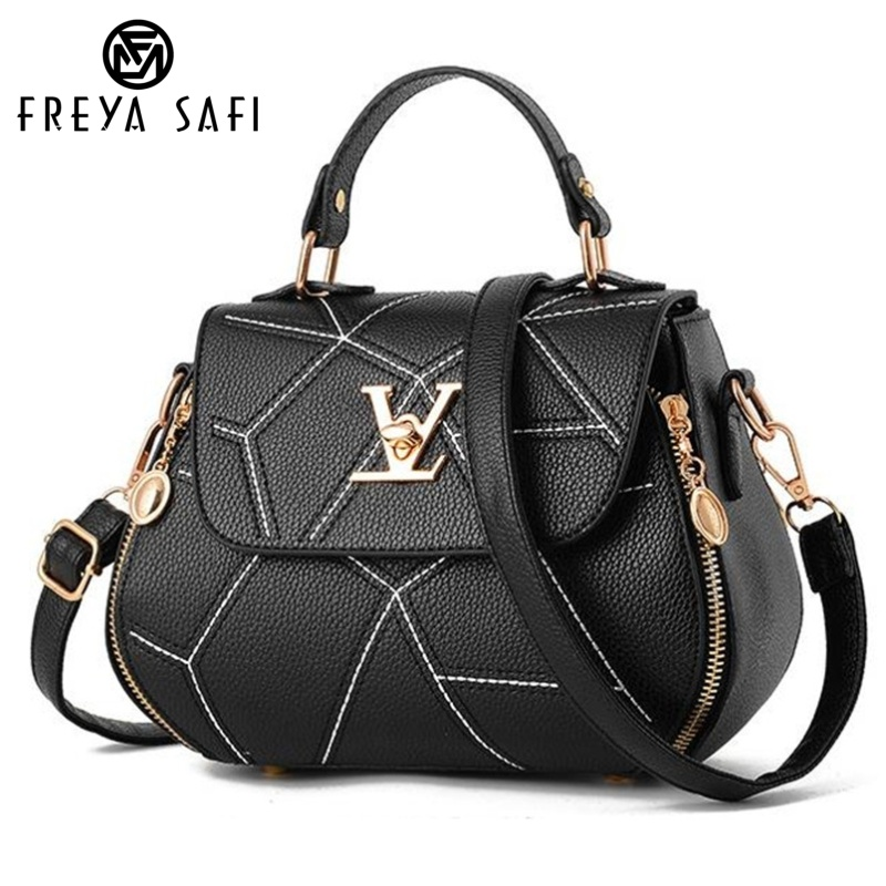 Flap V Brand Womens Bag Luxury Leathe Handbags Shell thread Ladies Clutch Designer Bag Sac A Main Femme Bolsas Women'sTote Purse(China)