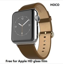 Hoco genuino correa de cuero premium para apple iwatch correa con hebilla de acero inoxidable 2 para el adaptador de apple watch 38mm/42mm