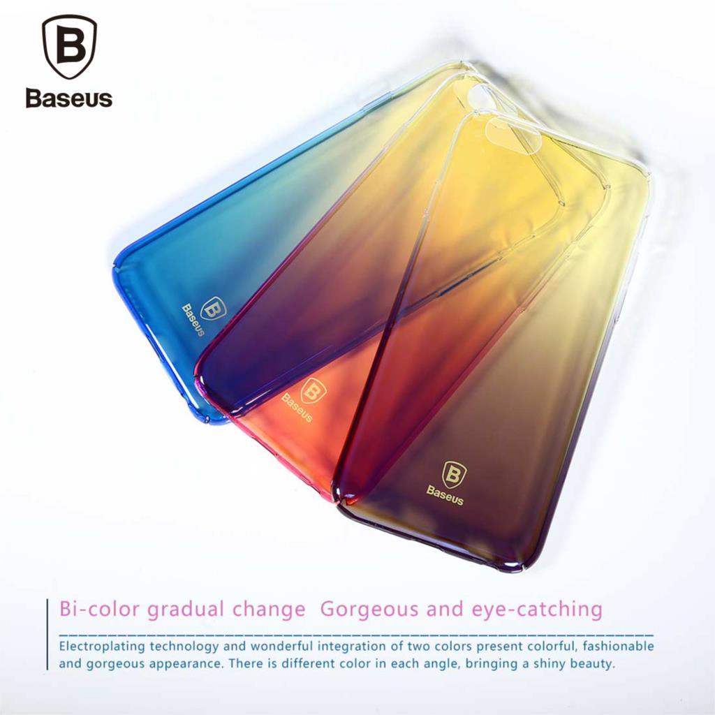 Baseus telefon case for iphone 6 6 s ultra płaski oświetlenie kolor gradientu twardy pc case for iphone 6 6 s plus coque tylna pokrywa shell 3