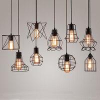 Vintage Ijzeren Hanglamp Industriële Loft Retro Droplight Bar Cafe Slaapkamer Restaurant Amerikaanse Land Stijl Opknoping Lamp